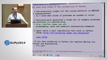 A Success Story in Using Python in a Graduate Chemical Engineering Course  SciPy 2014   John Kitchin