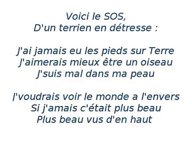 Grégory Lemarchal Sos D Un Terrien Détresse Lyrics Video Dailymotion