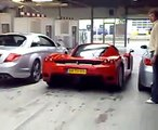 EXTREME CAR CRASHES Mercedes CL65 AMG and Ferrari Enzo and BMW M5