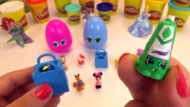 Play Doh Peppa Pig Kinder Surprise eggs Mickey Mouse Shopkins Paw Patrol