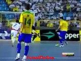 Great Futsal Goal by Falcao ( Brasil - Romania )