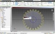 Autodesk inventor 2012Diseño y animacion de engranajes