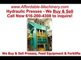 Good Used Birds Boro Hydraulic Stamping Press For Sale 616-200-4308