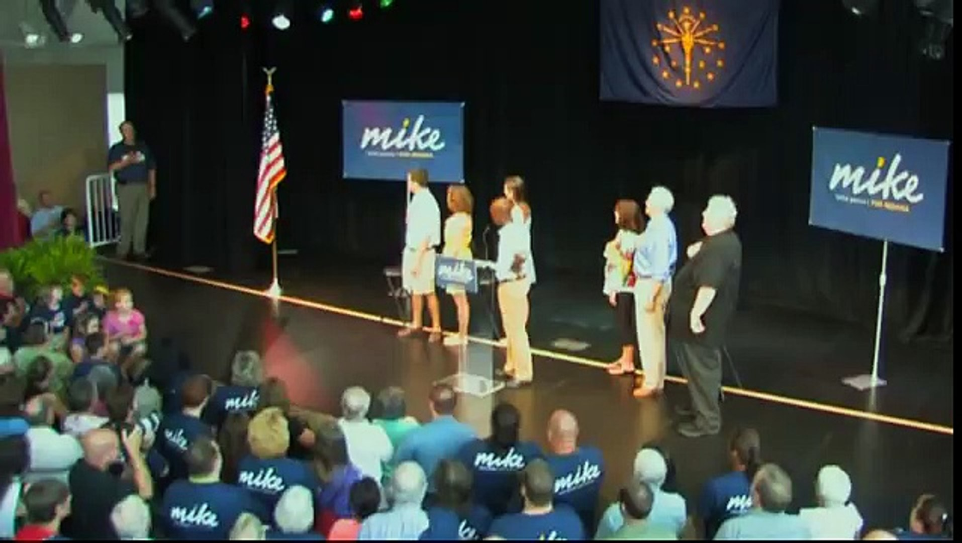 Mike Pence For Governor Announcement Video -
