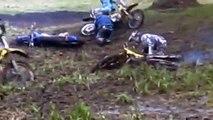 Dirt Bike Mud Fight 2012! Rm 250 vs Rm 144 vs Rm 125 vs Yz 125