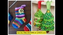 crochet christmas tree decorations easy crochet christmas stocking crochet christmas wreaths