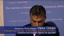 Q&A: Hungarian Prime Minister on the Challenges of the Hungarian Presidency of the EU
