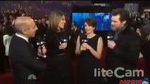 Jim Carrey awkward Brian Williams Joke on Saturday Night Live SNL 40 Red Carpet - VIDEO