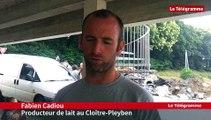 Châteaulin. Lactalis bloquée par une trentaine d'agriculteurs