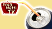 Strohhalm in Getränkedose festhalten - Frag Mutti TV