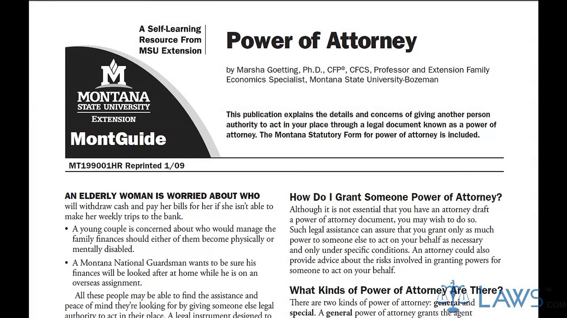 Learn How to Fill the Power of Attorney Form General - video ...