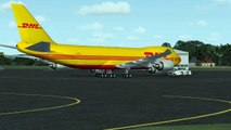 ✈ Cargo Too HEAVY, Runway Too SHORT -- Gigantic TAKE OFF ← DHL Boeing 747-8F Freighter