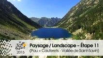 Paysage du jour / Landscape of the day - Étape 11 (Pau > Cauterets - Vallée de Saint-Savin) - Tour de France 2015