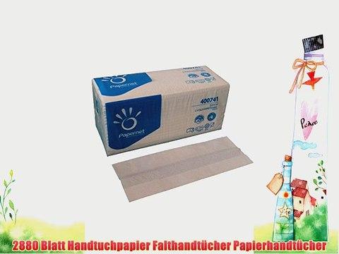 2880 Papierhandt?cher 2 lagig 23 x 32 cm hochwei? Lagenfalz Falthandt?cher Handtuchpapier Einmalhandt?cher