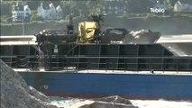 Crozon : Opération dragage de sable au port de Morgat