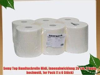 Semy Top Handtuchrolle Midi Innenabwicklung 20 cm hochwei/ß 1 x 6 St/ück 1er Pack 2 lagig
