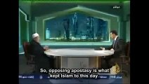 Without threat of DEATH for apostasy for leaving Islam imam admits Islam would not exist