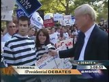 Concerned Youth of America with Chris Matthews during Presidential debates