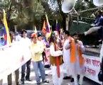 【チベット】中国への抗議 インド編2 [Tibet] protest movement in India