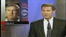 ESPN showing highlights of Hines Ward playing QB at Georgia vs Georgia Tech 1995