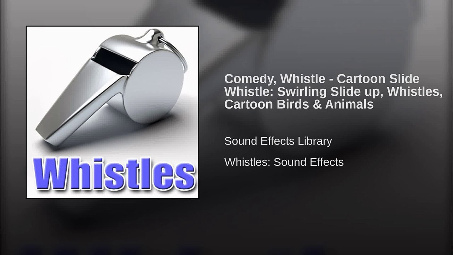 Comedy, Whistle - Cartoon Slide Whistle: Swirling Slide up, Whistles,  Cartoon Birds & Animals