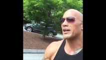 The Rock has a little finger problem - Accident during shooting