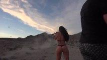 Dan Bilzerian descend des drones à coup de fusil à pompe avec ses copines sexy