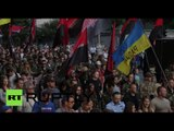 Ukrainian radicals stage massive march, demand end of ceasefire in E. Ukraine
