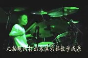 10 years old drummer play funk,live ,drummer festival of china.