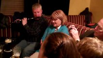 An Irish Music Session in Ireland on the Wild West Irish Tour featuring members of Dervish!