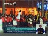 Pdte  Humala inauguró los Primeros Juegos Suramericanos de la Juventud