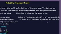 Probability- Part 4. Compound Events - Example of Dependent Events