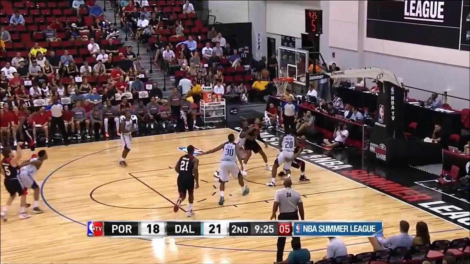 Bobby Ray Parks Jr. free throw Dallas Maverick vs. Portland TrailBlazers - 2015 NBA Summer League