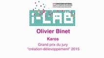 "i-LAB 2015 : Olivier Binet prix spécial du jury ""création-développement"""
