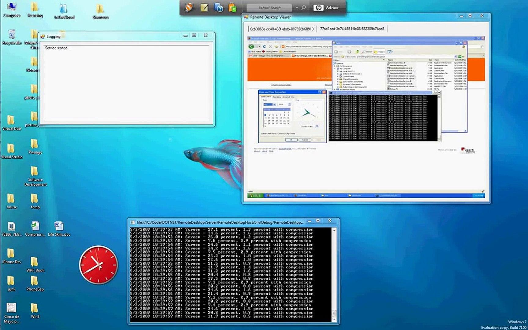 Multiple Remote Desktop Viewer (C# / WCF)