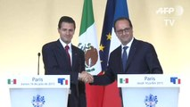 Mexican President Enrique Pena Nieto and France's François Hollande joint statement at the Elysée Palace on last day of (REPLAY) (2015-07-16 19:21:01 - 2015-07-16 19:31:43)