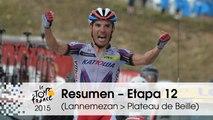 Resumen - Etapa 12 (Lannemezan > Plateau de Beille) - Tour de France 2015