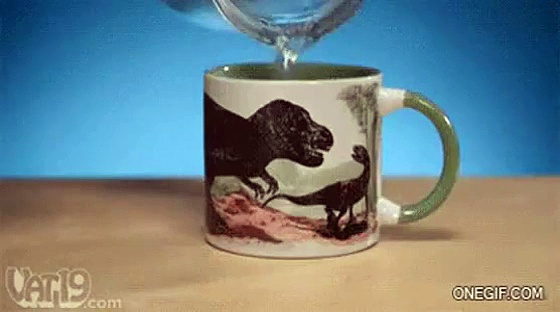 Awesome dinosaur coffee mug Video