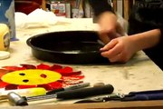 How to Make Stained Glass Stepping Stones : How to Grease a Stained Glass Stepping Stone Mold