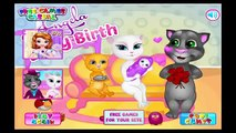 Angela Baby Birth My Talking Tom Cat Games for Kids - Gry Dla Dzieci