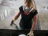 Creations n' Chrome spray on chrome paint on a fiberglass eagle head