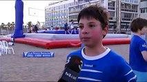 Bossaball amb els nens del CN Barcelona