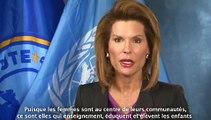 Nancy Brinker, Ambassadrice de bonne volonté de lOMS pour la lutte anticancéreuse.
