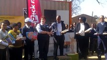Pick n Pay / Mandela Day book handover at Meadowlands Primary School, Soweto