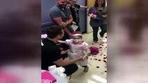 Kanser hastası küçük kızın 'evlilik' sevinci