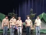Boy Scouts sing the Song That Never Ends