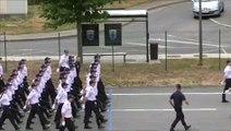 Répétition de l'Ecole Nationale Supérieure de la Police pour le défilé du 14 juillet 2015