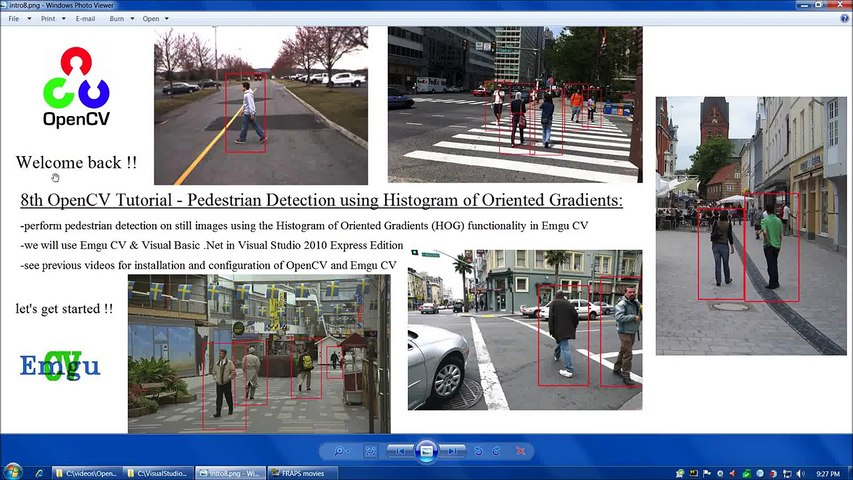 OpenCV Tutorial 8: Pedestrian Detection using Histogram of Oriented  Gradients