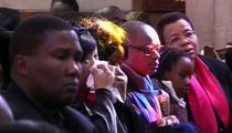 Family and friends gather at church for the funeral of Nelson Mandela s great grandda