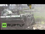 RAW: Clashes between DNR forces & Ukraine govt troops intensify despite ceasefire